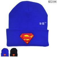 Free shipping 1 Piece Superman cotton Hat Headwear pullover Baby Hats, lovey Children kids Boy Cap
