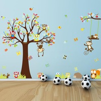 1212 new OWL 234*150 squirrel monkey children's rooms can stock with the exception of hot sale wholesale, wall stickers