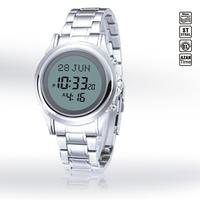 Waterproof Stainless Steel Islamic Muslim Azan Watch Wristband Prayer Reminder Watch Hijri and Gregorian calendar /HA-6382