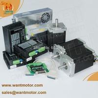 (60% discount)Nema 34 Stepper Motor 1232oz-in,5.6A, 14mms shaft, 3 Axis Wantai CNC  Engraver,CE, ROhHS, ISO9000 HIgh quality