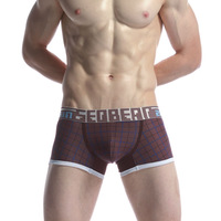 1400212 Free Shipping!Wholesale SEOBEAN Mans Boxers,Cotton Shorts,Do drop shipping!50pcs/lot.M L XL XXL,Mix Order.New Arriving!