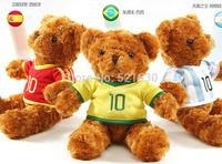 2014 hot sell  Small fans teddy bear plush toy High Quality Teddy Bear Doll Size 35cm free shipping