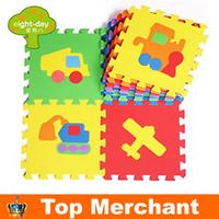 10pcs EVA car plane baby play mats foam jigsaw puzzle mats kids jigsaw game mat  EVA non-slip mat PX10