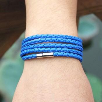 Новый! кожаный браслет, мужская вмс стиль браслет 100% чистый ручной работы ювелирные ...
