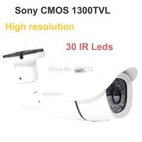 HD Sony CMOS 1300TVL CCTV Security Camera Color 30IR Home Outdoor Video Bullet