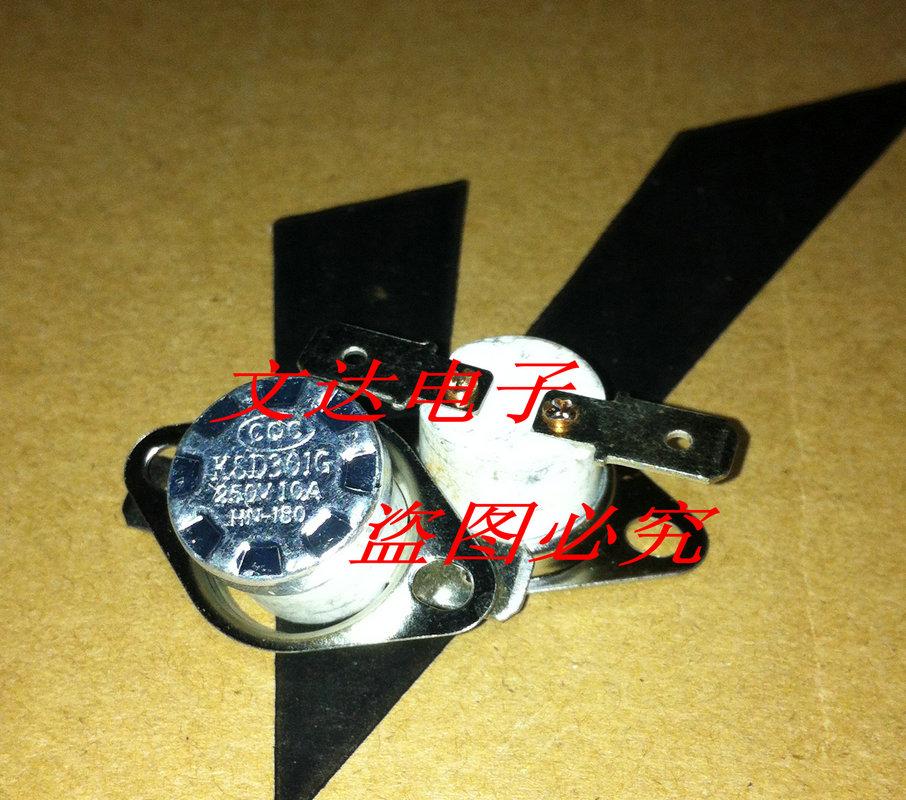 entrega gratuita. ksd301 cerâmica temperatura do termostato proteção térmica switch 180 graus 250v/10a slipknot nc(China (Mainland))