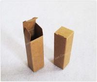Free Shipping DIY Favors Lipstick Box  - 2 x 2 x 7cm brown 300pcs/lot LWB0437