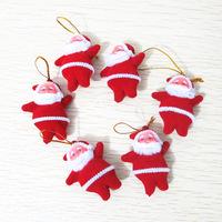 New Arrival Christmas XMAS Tree Decoration Small Santa Father Christmas Pendant Christmas Hanging Ornaments 6pcs/lot