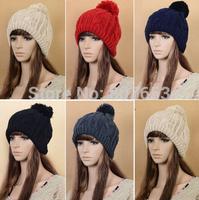 New Women's Man's Winter Baggy Beanie Knit Crochet Ski Hat slouch Cap Snow Hat Free Shipping
