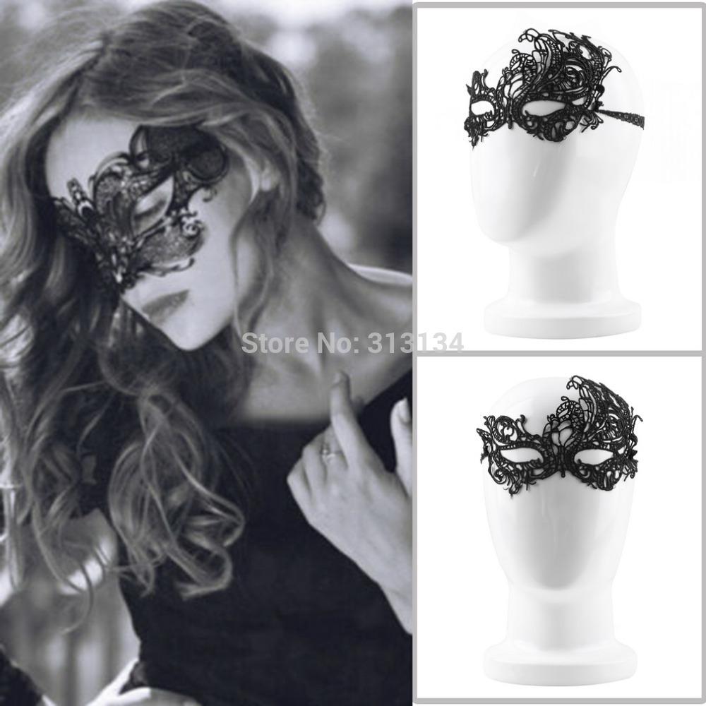 1pc High Quality New Design Women Costume Eye Mask Sexy Lace Eye Mask Venetian Masquerade Ball Halloween Fancy Dress Costume(China (Mainland))