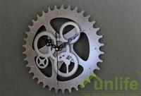 funlife Free Shipping 30cm 11.8in Europe Retro Gear Wheel Shape Quartz Clock Imitation Metal Clock Thanksgiving Day Gift wc1389