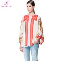 Casacos Femininos Autumn Flower Print Chiffon Coats Women Fashion Casual Tops Open Stitch Coat Plus Size Clothing Dropshipping