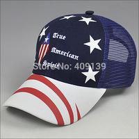 2014 Fashion Brand America Flags Baseball Caps Hats For Women Men Summer gorras Hats Snapback Hat chapeu
