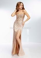 Designer A-line long celebrity dresses for women 2014 bg_95050
