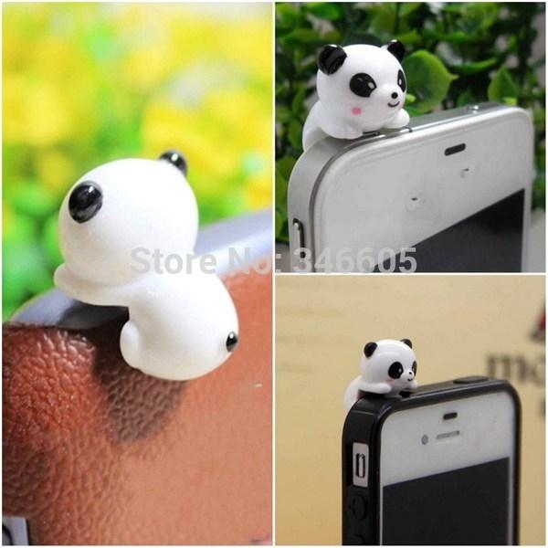 Panda Type Anti-Dust Plug Earphone Cartoon 1PC Dust Proof Plug for Mobile Phone(China (Mainland))