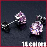 Wholesale Lead Nickel Free AAA CZ Earrings Real 18K Gold Platinum Plated Zircon Earrings - SKBTQ
