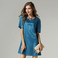 Polka Dot Women Dress Plus Size Short Sleeve Dresses Summer #SN-FBB