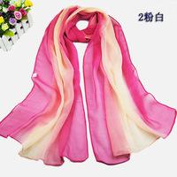 Korean style women fashion gradient color Chiffon spain desigual scarf Female casual Winter Spring warm bandana shawl scarf wrap