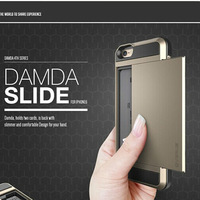 "New Korean SUPER ARMOR TPU + PC Damda Slide Protective Hard Back Cover Case For Apple Iphon6 plus 5.5""phone Free Shipping"