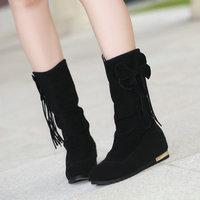 New style winter women low shoesbowtie round toe leisure fashion winter bootsZ1LDH-659