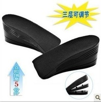 Half size 3 Layer  5cm  Increase Height Insole Taller Pad  Fit Men Aad Women  W01