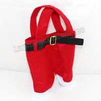 XMAS Deco Cute Happy 5PCS Christmas Gifts Decoration Bag Wedding Candy Santa Pants Treat Bags 22*15CM (KYJ104*5)