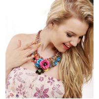 Necklace & Pendants Trendy Vintage Women Chunky Statement Choker Necklace Luxury Bib Necklaces Jewelry Fro Women 2014 PT33