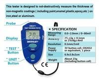 Digital LCD Coating Thickness Gauge Car Painting Thickness Tester Paint Thickness Meter DIY Instrument 0-80mil 0.1MM
