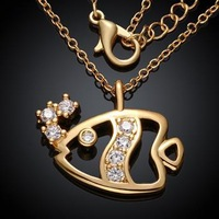 KZCN029-ABC // beautiful Factory Price Wholesale Necklace , fashion hot sale jewelry Chain gold plated Necklace