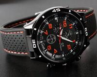 2014 New Men Wristwatches/ Sport Watch/ Rubber Strap Running Quartz Watch /Men GT Watch Free Shipping