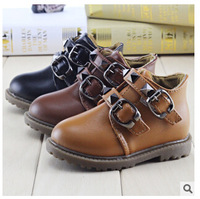 Korean version of the fall and winter fashion shoes Martin boots for children