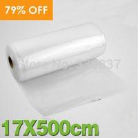 17*500cm Vacuum Bags Emboss Bags Single Side Net Texture Food Storage Bags 1 Roll