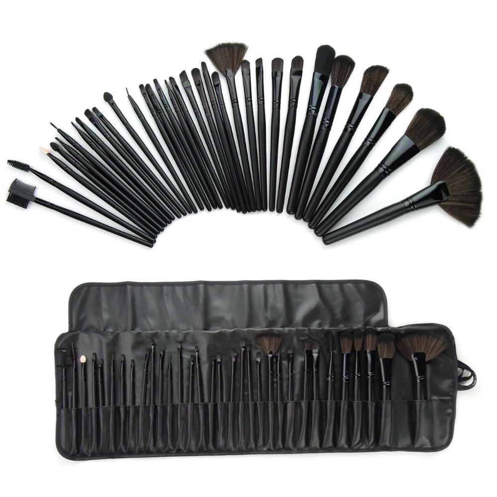 32 pcs Superior Professional Soft Cosmetic Makeup Brush Set Kit + Pouch Bag Case Woman's Make Up Tools Pincel Maquiagem(China (Mainland))