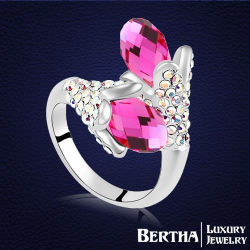 Кольцо Bertha Jewelry Swarovski Rystal 18K 17964 кольцо zhouyang jewelry r239 18k zyr239
