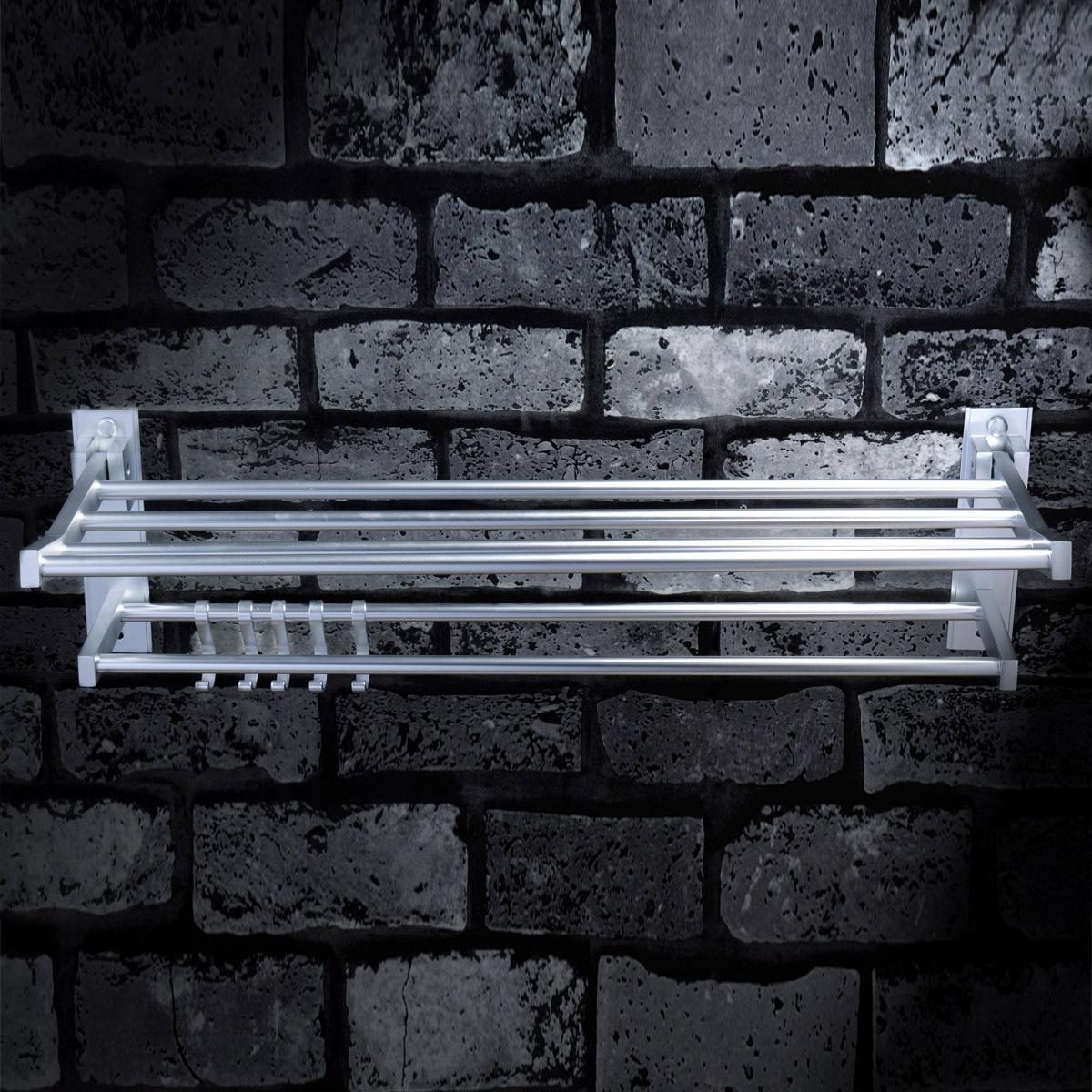 Solid bathroom shelf towel rack space aluminum bathroom hardware accessories set towel rack(China (Mainland))