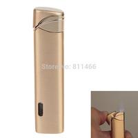 Windproof Butane Flame Lighter Cigarette Cigar Lighter Super Fire Wholesale& Refillable  - gold-C200072