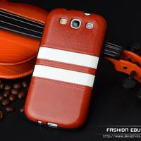 For Galaxy S3 Luxury Retro Two Tone PU Leather Fashion Soft TPU Back Case Cover for SAMSUNG GALAXY S3 SIII I9300 I9305 Phone Bag