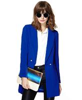 XS S M L XL XXL Plus Size women's Foreign trade Autumn new blazer jacket thin coat small suit jacket Asymmetric lower hem coat
