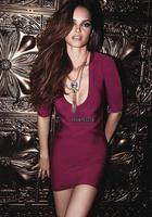 2014 Cute Girl Top Quality HL kim kardashian Purple Newest Bandage dresses evening celebrity Long Sleeve dresses Drop Shipping