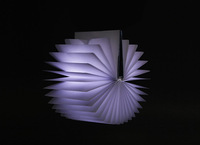 USB Charging LED Book Form Night Light Home Decoration Lamp 3 Colors Free Shipping