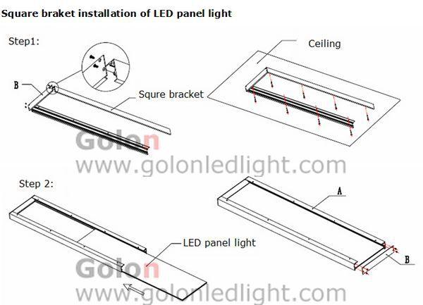 6060 LED panel light wall / ceiling mounted kits: Square bracket kit for 6060 LED panel light Anodic oxidation aluminum(China (Mainland))