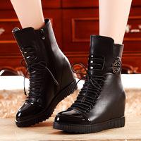 2014 women's high-heeled shoes elevator flat boots martin boots 1505 - 2