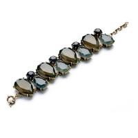 New Vintage Jewelry Magnetic Women Alloy Bracelets Flower Charm Handmade Fashion Acrylic Bangles