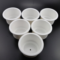 Brand New 6 PCS New White Boat Plastic Cup Drink Can Holder Boat Marine RV Universal