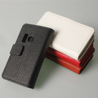 For NOKIA Lumia 505 New Magnetic wallet PU Leather stand Cover flip Case