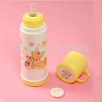 Free Shipping 1pcs Baby Portable Milk Bottle Nursing cup / Feeding Milk glass Bottle 240ml