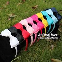 10colours New design  top sale  headband  kids hair bows Girls' hair accessories
