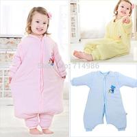 Winter Cotton Kids Baby Sleeping Bag Sleepsacks Walking Swaddle Blankets for Children Bedding Set M-XL