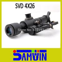 Free Shiping SVD Dragunov 4x26 Red Illuminated AK Rifle Scope