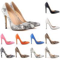 2015classic women pumps Sexy snake leopard stilettos female high heel ladies pumps shoes escarpins zapatos de tacon alto us 4-11